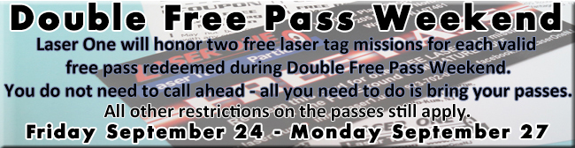 Double free pass weekend